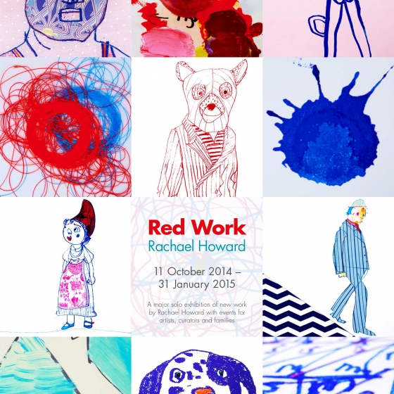 Red Work Exhibition Poster